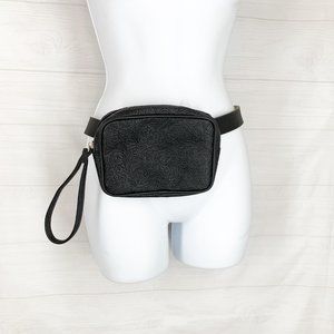 Stone Co Leather Belts Waist Fanny Pack Black New